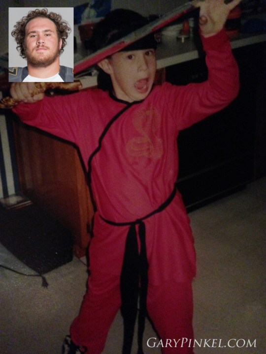 Mizzou Center Evan Boehm was a fierce ninja for Halloween in Lee's Summit, Missouri.