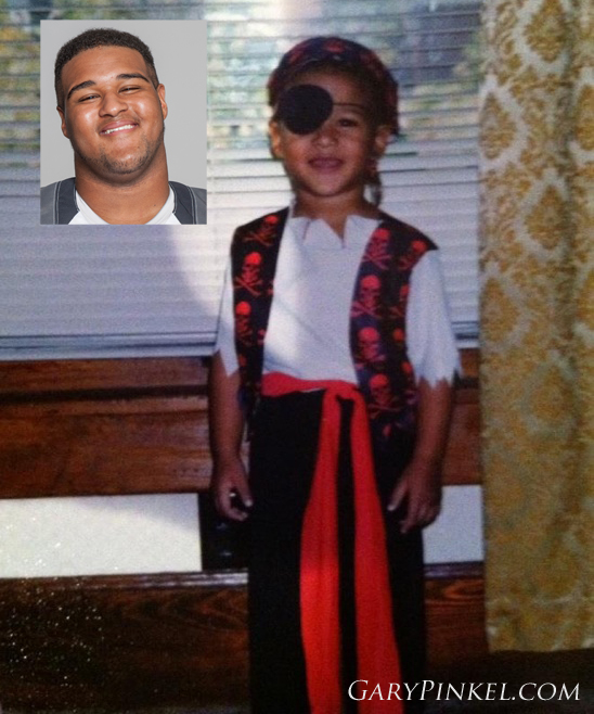 Mizzou Defensive Tackle Lucas Vincent was a pirate for Halloween when he was a kid.