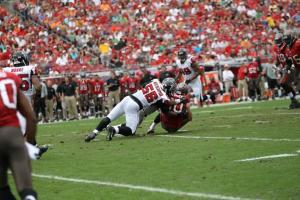 Look for three #MizzouMade Falcons including former captain Sean Weatherspoon Thursday night vs. the Saints. Photo credit: AtlantaFalcons.com