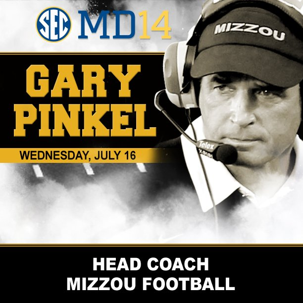 SEC Media Day 2014 Gary Pinkel Mizzou Football