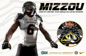 Mizzou Football Nike Uniform Combination Texas A&M November 15 2014