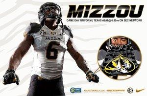 Mizzou Football Nike Uniform Combination Texas A&M November 15 2014