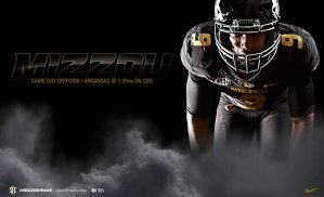 Braylon Webb Mizzou Football NIke Uniform Combination November 2014 Arkansas