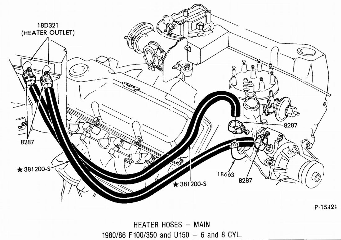 Chevy 350 Heater Hose Diagram