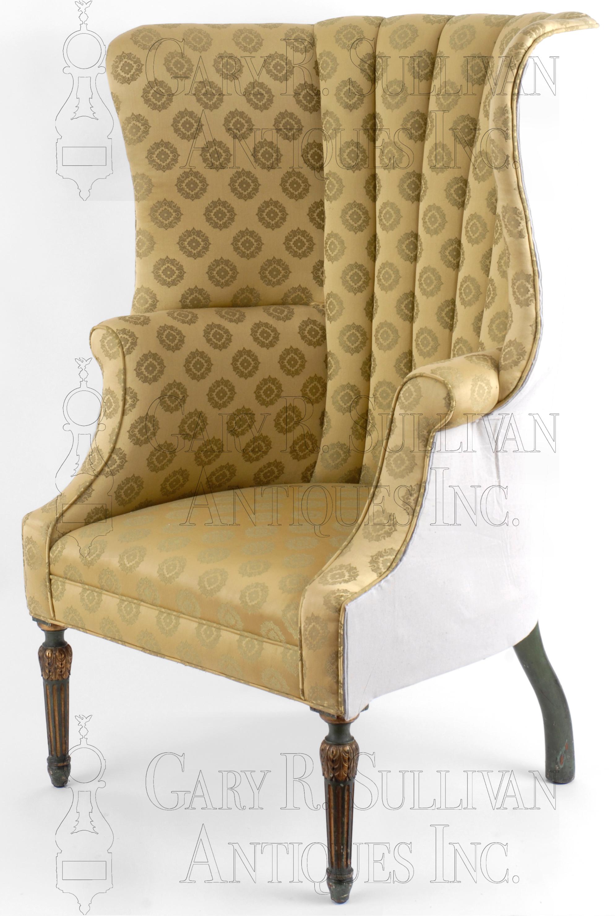 Barrel Back Easy Chair Philadelphia Pa Furniture 08045 Gary Sullivan Antiques Antique Clock Dealer Antique Furniture Expert
