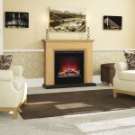 Berkely oak surround with electric fire