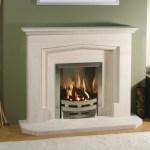 Tudor limestone fireplace