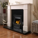 Virage gas fire with black trim