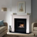 Wilbury in limestone with DL500 gas fire