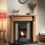 Traditional tiled cast fireplace