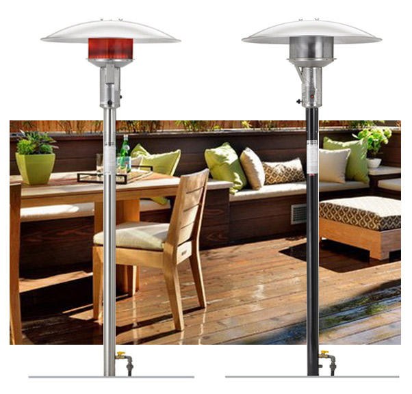 ground permanent natural gas patio heater