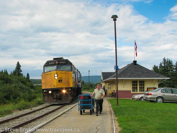 VIA at the Percé station