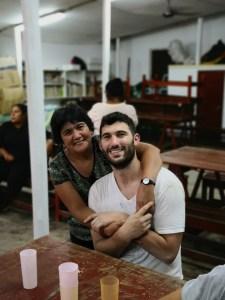 Cristina con Fede Perez