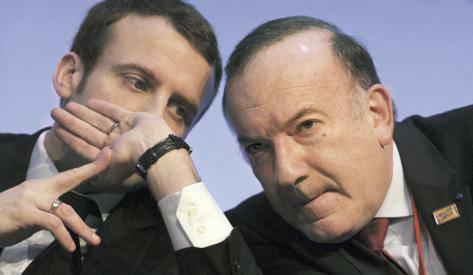 Qui est Emmanuel Macron ? Macron-et-son-copain-Gattaz