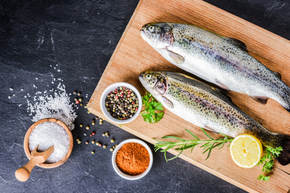 Ingredients for the best rainbow trout recipe
