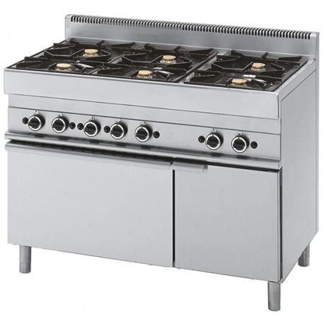 Cucina A Gas 6 Fuochi 1 Forno Elettrico A Convezione 1 Vano Chiuso Gastromastro Group Sas