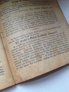 Auszug aus dem Backbuch