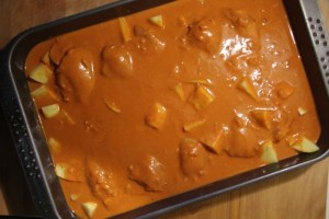 Indisches Hähnchen in Tomatencreme
