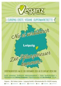 Veganz Leipzig Flyer