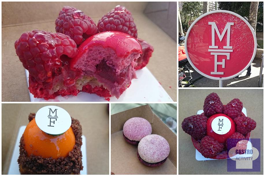 Tartaleta de frambuesa, Carrotcake y macarons de yogurt y frutas del bosque MadrEAT