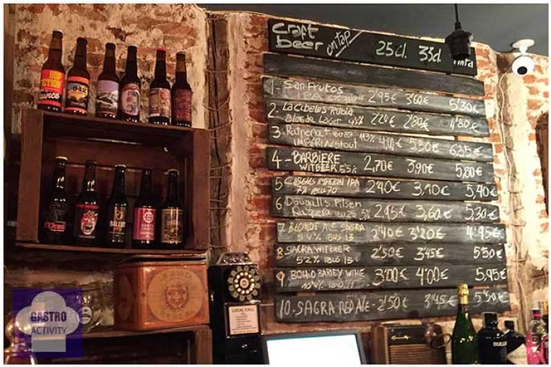 Tabla de cervezas Fogg Bar Birras & Cheese Huertas Madrid