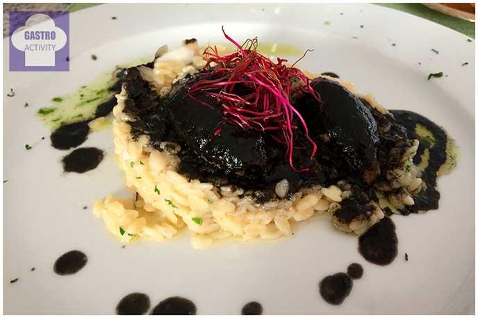 Risotto con chipirones Restaurante Jose Luis Madrid