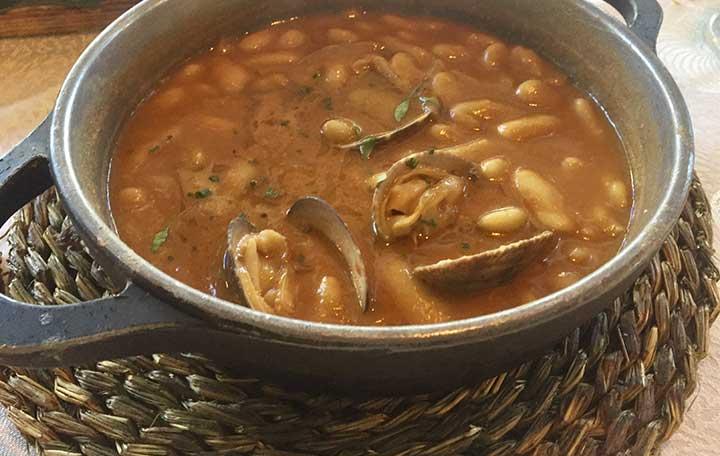 Fabes con almejas Restaurante La Dehesa de Las Tablas