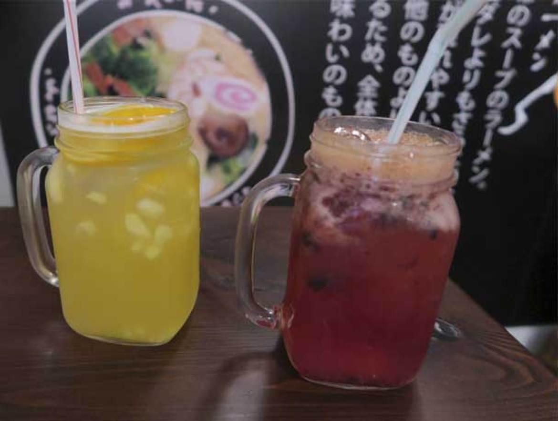 Ice Tea de jenjibre Ice Tea de frambuesa Ramen Shifu restaurante japones de ramen