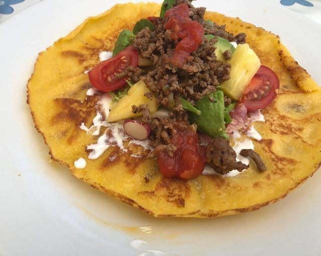 Mexicanske pandekager med oksekød