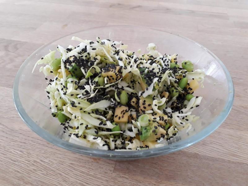 Salat med mango og asparges