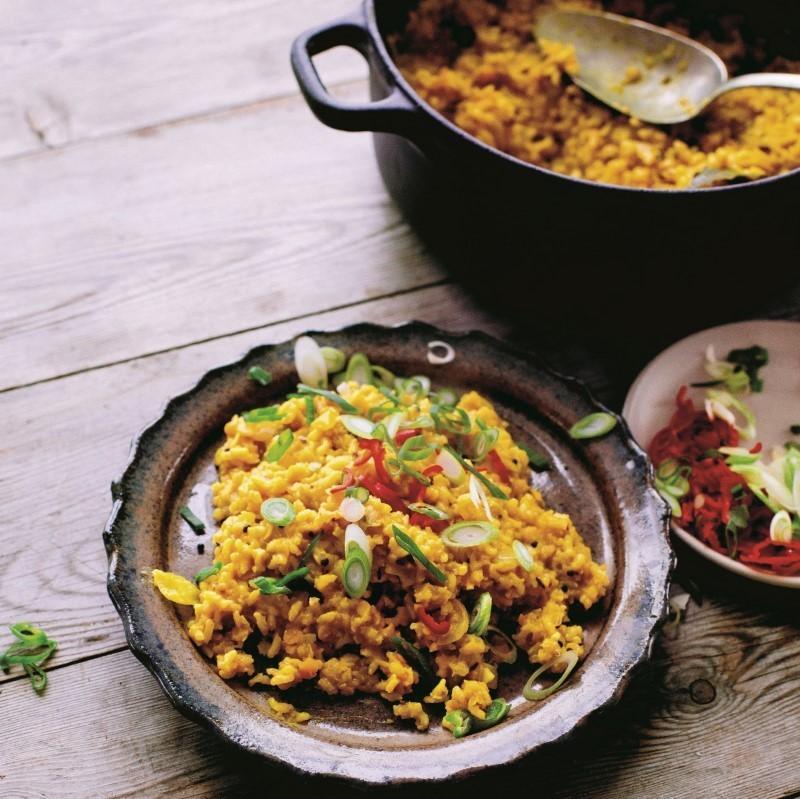 Khichri med brune ris