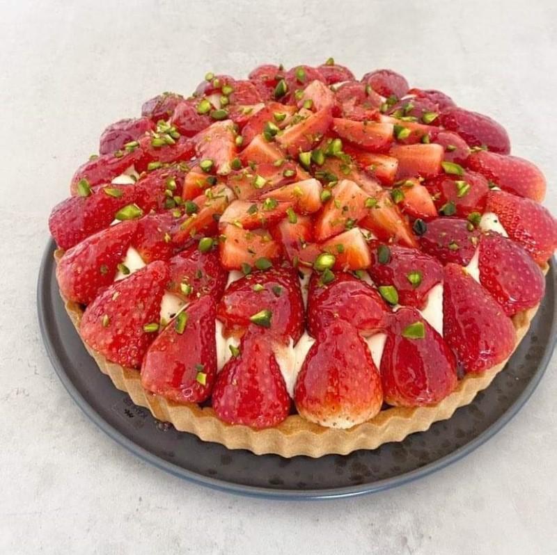 Jordbær tærte