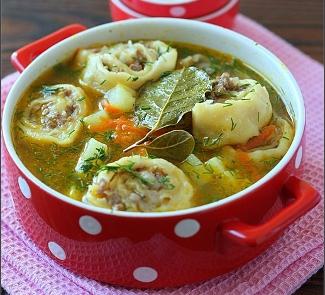Картофельный суп с ленивыми пельменями, пошаговый рецепт с ...