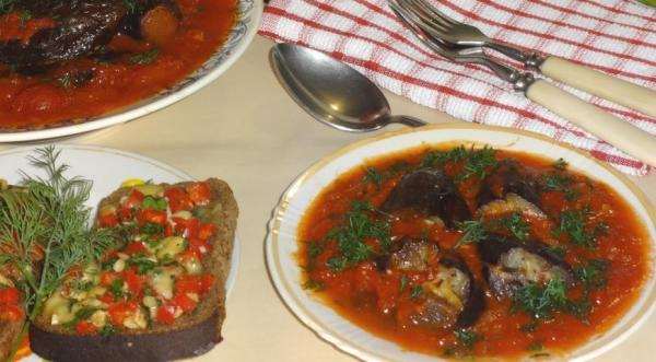 Фаршированные баклажаны , пошаговый рецепт с фото
