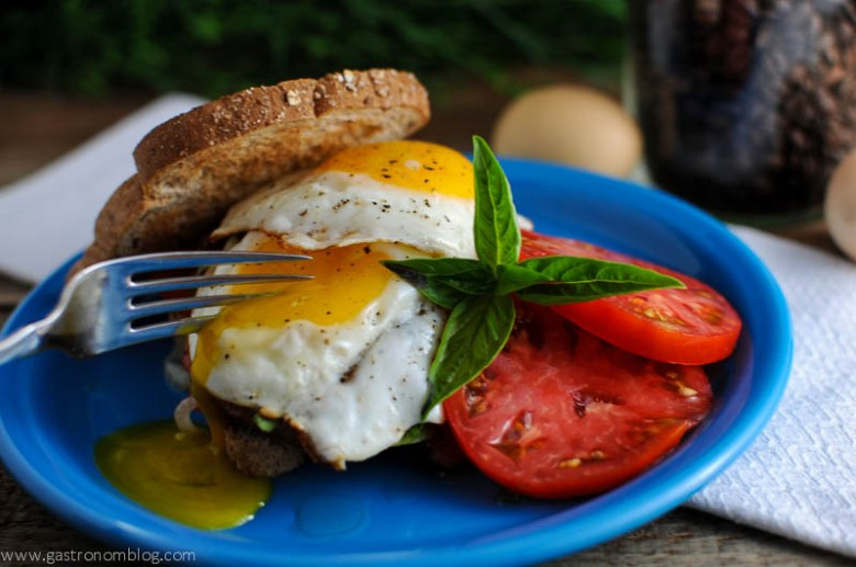 Bacon Tomato Onion Egg Sandwich