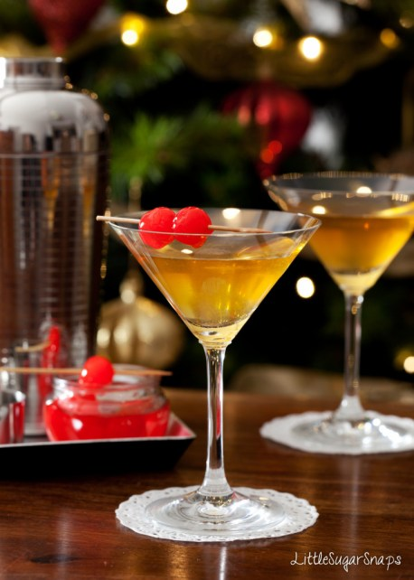 Cocktails served with Maraschino cherries