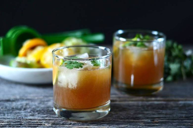 Sweet Lime Ginger Rum Cocktail