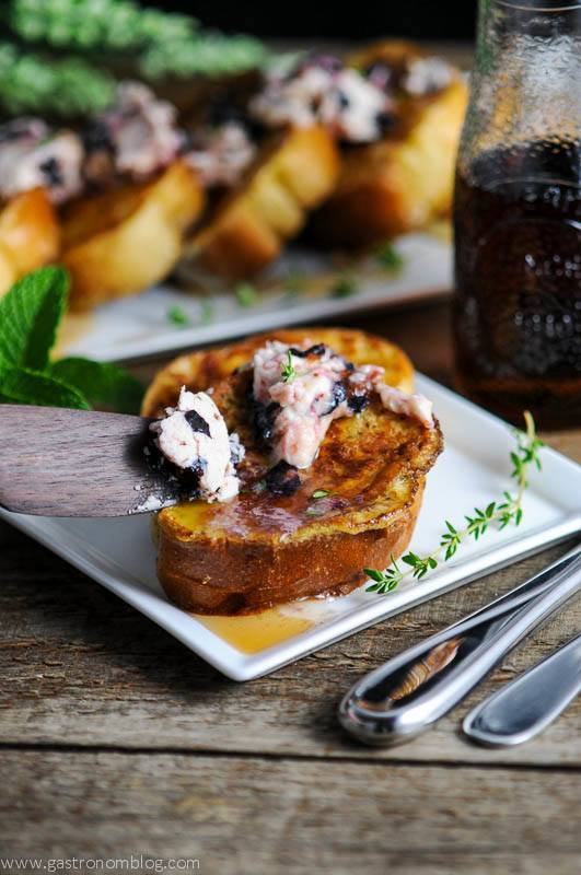 Blueberry and Thyme Butter on French Toast