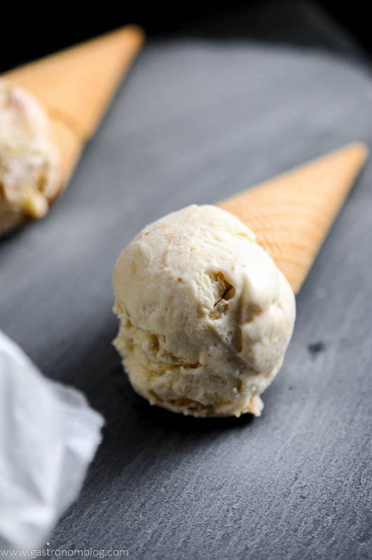 Bourbon and Peach No Churn Ice Cream