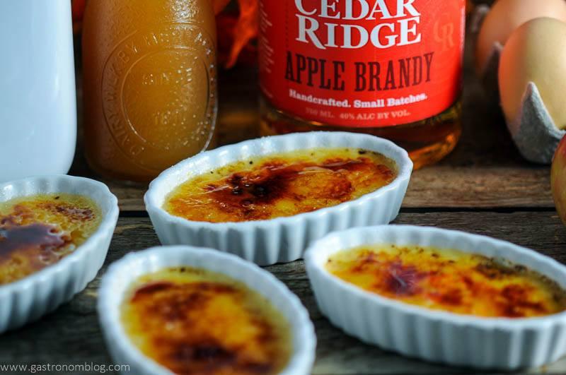 Apple Cider Brandy Creme Brulee