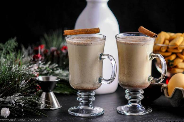 Salted Butterscotch Bourbon Egg Nog