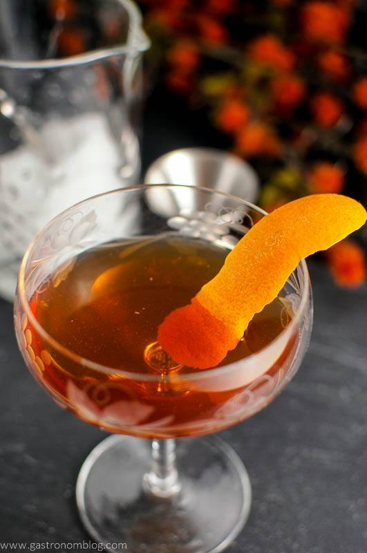 The Woodsman - An Apple Brandy and Ginger Cocktail