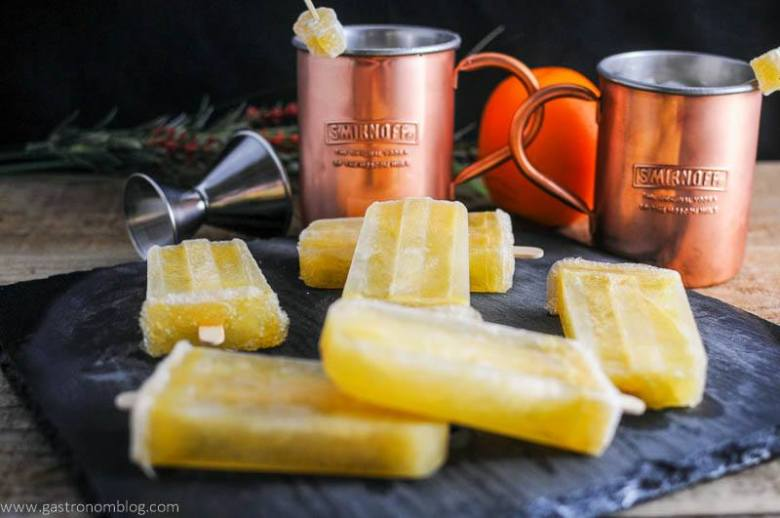 Sunrise Over Moscow Mule Ice Pops