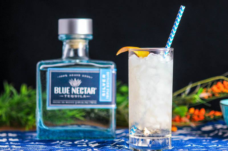 Where The Sea Meets the Sky - A Blue Nectrar Tequila Cocktail