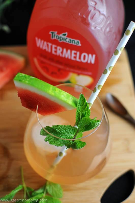 Watermelon Bourbon Cooler - A Bourbon Cocktail with Tropicana Premium Juices
