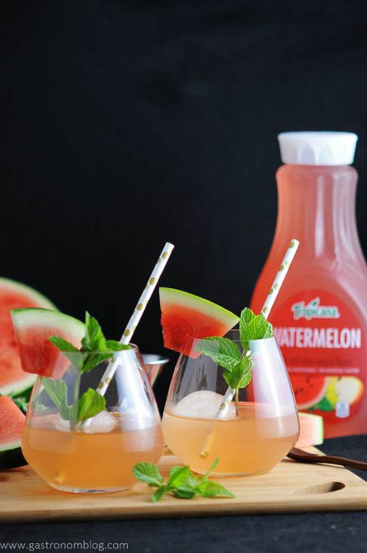 Watermelon Bourbon Cooler - A Bourbon Cocktail with Tropicana Premium Juices