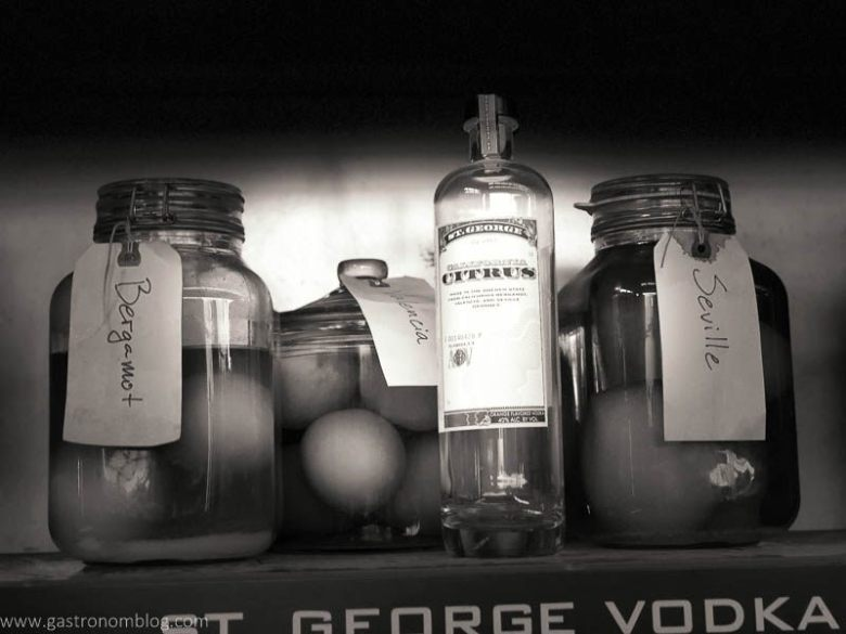 Seville lemons, Bergamot Oranges and St Geroge Spirits California CItrus Vodka