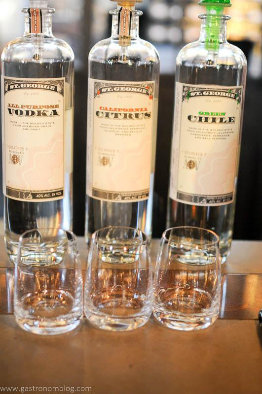 St George Spirits offering of three vodkas, the all purpose, California citrus and the green Chile Vodka.