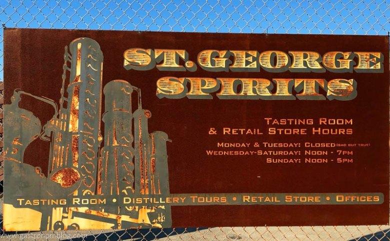St George Distillery Signage