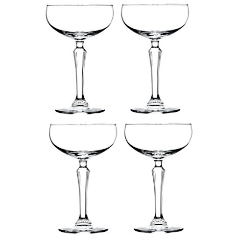 Libbey Speakeasy Coupe Glass 7 oz - 4 Pack w/ Pourer